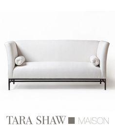 Shelter Sofa in Belgian Linen - Tara Shaw Design, Antiques, & Custom Maison Furniture Movers, Sofa Furniture, Online Furniture, Metal Furniture, Chaise Sofa, Sectional Sofa, Sofa Design, Interior Design, Furniture Styles