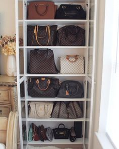 My Fashion Trends,LV Shoulder Bags- Louis Vuitton Handbags New Collection to Have Handbag Storage, Handbag Organization, Closet Organization, Makeup Organization, Ikea Storage, Closet Storage, Storage Ideas, Kitchen Storage, Used Louis Vuitton