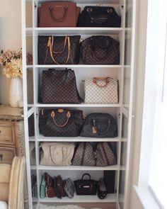 Charmant Handbag Organization Via IKEA Storage.