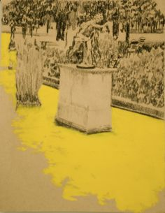 Leïla Gaillard - mes dessins - Jardins de Paris - Les Tuileries - format 50/65