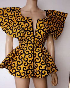 Ankara tops with peplum shape give a figure that blends through all the curves of your body. It fits all body sizes extremely well, and are outstanding and spectacular. They can be worn as a casual wear, corporate wear, corporate casual wear, dinner wears and you can also wear them to...