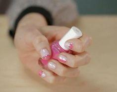 Pink Color-Blocked Nails | Divine Caroline