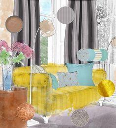 Inspiration, interior design and roman blinds Roman Blinds Direct, Lilac Grey, Pantone, Curtains, Mood, Interior Design, Inspiration, Home Decor, Diy Roman Blinds