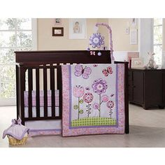 Graco - Secret Garden 4pc Crib Bedding Set - Value Bundle