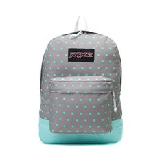 JanSport Superbreak Backpack in Gray/Aqua $35