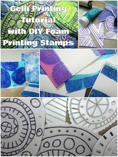 Gelli Printing with DIY Foam Printing Plates! Watch the video on the blog too!