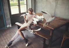 visual optimism; fashion editorials, shows, campaigns & more!: white mischief: hana jirickova by david bellemere for porter #5 winter 2014