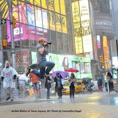 "NYC- ""I jumped 21 times in five minutes"", Jordan Matter"