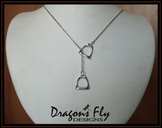 Stirrup Pendant Large Equine Jewelry Equine by DragonsFlyDesigns