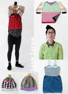 colorful knitwear