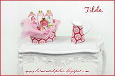 Conjunto Tilda en tonos rojos. Piezas a la venta. www.lasminisdepilar.blogspot.com