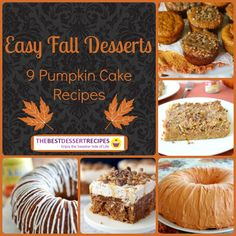 Our collection of Easy Fall Desserts: 9 Pumpkin Cake Recipes compiles all of the best pumpkin cakes in one easy place. From bundt cake recipes to poke cake recipes, you'll find a pumpkin cake recipe to satisfy any craving.