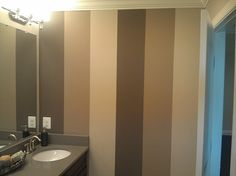Striped Bathroom Wall Walls Paint Stripes Faux Painting Interior