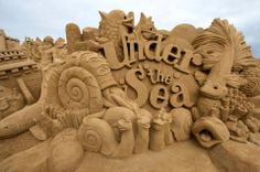 Sand Sculpting - Under The Sea