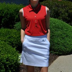 Sleeveless Polo – From the Red Tees