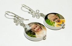 Sterling Splats and Dangling Photo Charms DelaneyPhotoJewelry, $93.00
