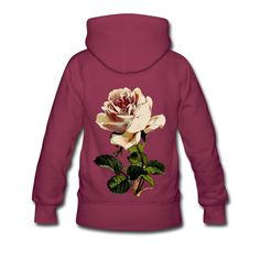 Vintage Pink Rose Flower Floral Womens by WinkinBitsyClothing