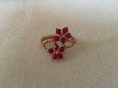 Flower ring Beaded Rings, Manual, Beading, Jewelry Design, Brooch, Earrings, Flowers, Inspiration, Fabrics