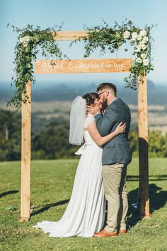 45 Amazing Wedding Ceremony Arches and Altars To Get Inspired rustic greenery wedding arch Wedding Ceremony Ideas, Wedding Trellis, Wedding Arbor Rustic, Wedding Arbors, Wedding Reception, Wedding Events, Wood Wedding Arches, Wedding Arch Flowers, Floral Wedding