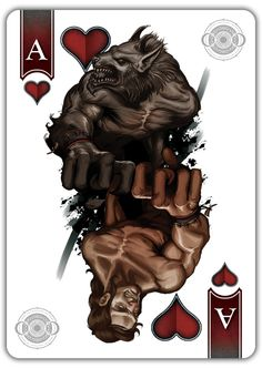 Werewolf Bicycle® Playing Cards! Lenticular Lens Motion Tuck by Scott King —…