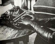 "john willie's ""bizarre""[via http://janesvanity.tumblr.com/post/6386684281/the-gloves-the-typewriter-gorgeous]"