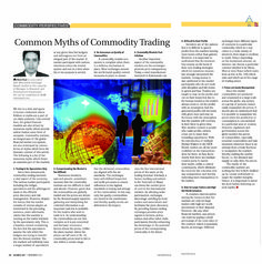 """""""Common Myths of Commodity Trading"""" -November Article Published in the October 2015 issue of Business 360 magazine!"""