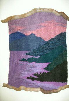Wood 'n I Weavings : Thalia Truesdell~ This woman is incredible! Weaving Textiles, Weaving Art, Weaving Patterns, Loom Weaving, Tapestry Loom, Peg Loom, Weaving Projects, Woven Wall Hanging, Weaving Techniques