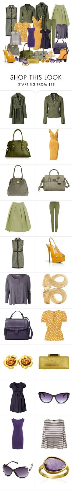 """""""Purples/Mustards/Olives"""" by icebubbletea ❤ liked on Polyvore featuring Organic by John Patrick, Etro, Dooney & Bourke, Donna Karan, Dorothy Perkins, Mulberry, Prada, Givenchy, Opening Ceremony and Giuseppe Zanotti"""