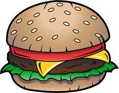 Junk Food Clip Art | Free Clip-Art: Food » Junk Food » Cheeseburger