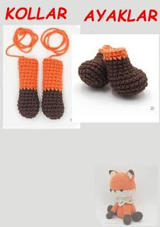 TİLKİ MİLO Crochet Baby Toys, Crochet Bear, Crochet Hats, Baby Knitting Patterns, Crochet Patterns, Octopus Crochet Pattern, Free Pattern, Cross Stitch, Crafts