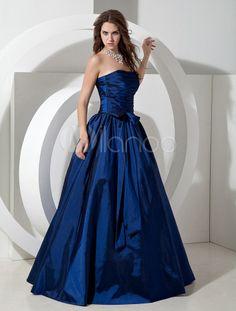 Strapless Floor Length Bridesmaid Dress - Milanoo.com