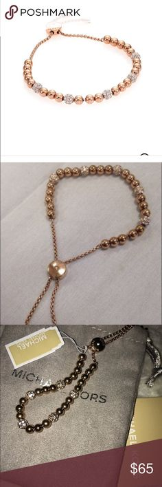 Michael Kors fireballs slider Rose gold, sliders, adjustable Michael Kors Jewelry Bracelets