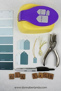 DIY Price Tags With Paint Chips | www.donnaberlanda.com