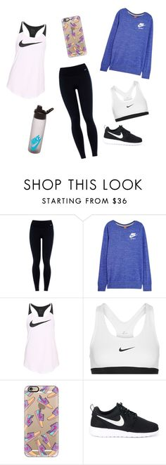 """""""Nike Out"""" by elizabeth-trausch ❤ liked on Polyvore featuring NIKE and Casetify"""