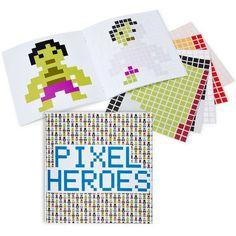Pixel Heroes Sticker Book