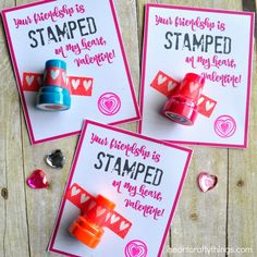 My daughter's dance teacher always gives her students a stamp on the hand after class to celebrate a job well done. My daughter adores it! So when I came across these little Valentine's Day stampers recently my heart fluttered with excitement because I knew they would make a perfect non-candy Valentine gift for all of …
