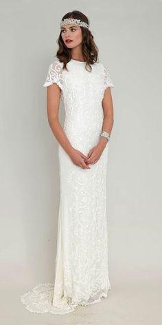 Vintage Inspired Wedding Dresses ❤ See more: http://www.weddingforward.com/vintage-inspired-wedding-dresses/ #weddings