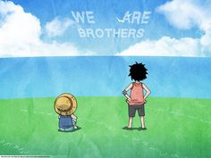 Tags: Wallpaper, ONE PIECE, Monkey D. Luffy, Portgas D. Ace