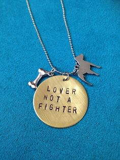 Lover Not A Fighter by JEMJewelryDesign on Etsy