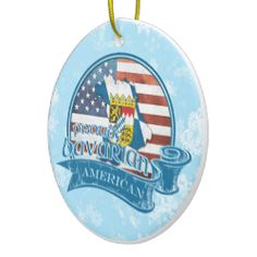 Proud #Bavarian American Christmas Ornament. For more holiday ornaments, please check out my store: www.zazzle.com/celticana*/ #ChristmasOrnaments #ChristmasDecorations #Zazzle