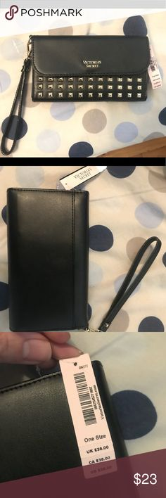 Victoria's Secret rock envy tech clutch black NEW New from VS, small clutch/wristlet can also be used as a wallet. New with tags Victoria's Secret Accessories Key & Card Holders