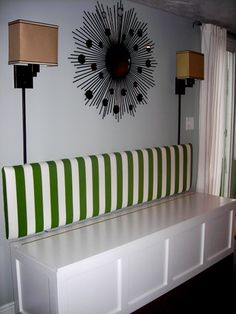 bench - storage  back cushion (like wall-mounted headboard)