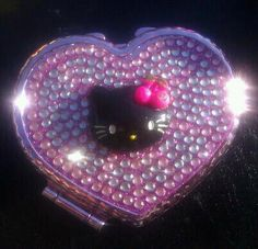 Hello Kitty Bling compact Mirror Free by PinkToesAndHairBows, $7.50