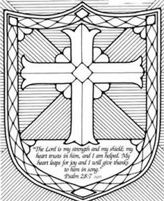 shield of faith coloring page bing images