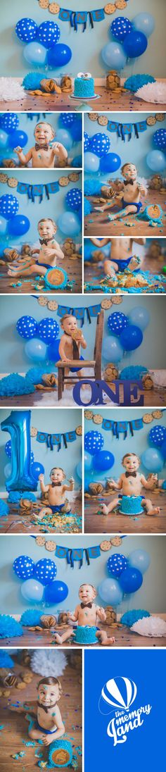 Smash The Cake Photography. Cookie Monster Smash The Cake. Cake time. One Year Photography. Baby Boy. Miami Photoshoots.Check out more of our work :) www.thememoryland.com