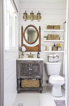 Tired of feeling cramped in your not-so-big bathroom? Take a page from this blogger's book and maximize your space with a little craftiness and creativity.