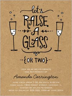 Raise Your Glass Christmas party Invitation