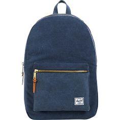 #Backpacks, #HerschelSupplyCo, #LaptopBackpacks - Herschel Supply Co. Settlement Canvas Washed Navy - Herschel Supply Co. Laptop Backpacks