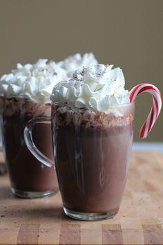 Warm up to this amazing Hazelnut Hot Chocolate, a wonderful spin on your regular hot chocolate! #recipe #hotchocolate