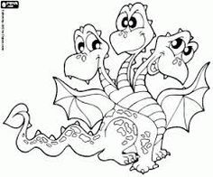free coloring pages , coloring sheets , printable coloring pages Cute Coloring Pages, Flower Coloring Pages, Coloring Books, Dragon Coloring Page, Old School Tattoo Designs, Cute Cartoon Drawings, Cute Dragons, Halloween Painting, Baby Dragon